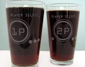 Player Select Etched Glassware (Large) -Tumblers  -Old Fashioned -Can Glasses -Mason Mugs -Ceramic Mugs -Pints Sandblasted