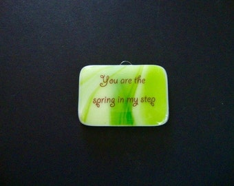 Spring in my Step Mini Stand-up Plaque