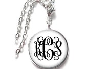 White Monogram Necklace, Monogram Jewelry, Personalized Jewelry, Monogram Gift, Monogram Accessories (374)