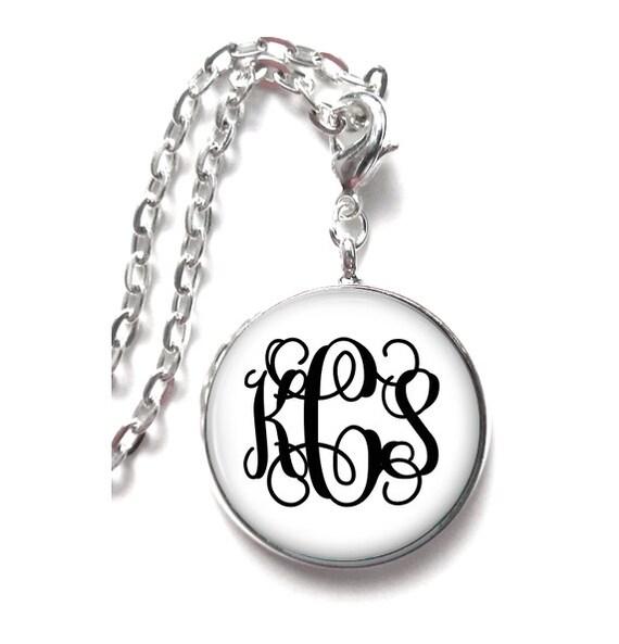 White Monogram Necklace, Monogram Jewelry, Personalized Jewelry, Monogram Gift, Monogram Accessories (374)