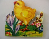 Vintage Easter Chick Folded Accordian Border, Small Size, Unused, Made In Sweden, USA Free Shipping