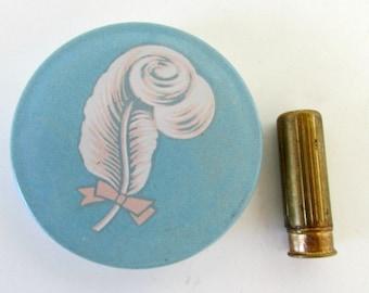 Vintage Avon Powder Tin compact Heavenlight face powder Compact Round 1950s and Avon lipstick sample tube