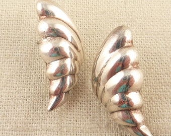 SALE ---- Vintage Sterling Wing Shaped Post Earrings