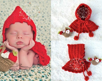 Little Red Riding Hood and Little Basket Photo Prop 0-3mo