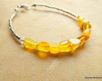 Ethiopian Opal Bar Bracelet, Sterling Silver Jewelry, Minimalist Jewelry, Handcrafted Jewelry, Gemstone Jewelry