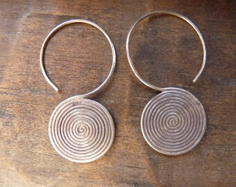 Hill Tribe spiral earrings
