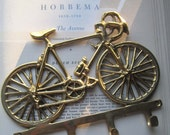 Brass Bicycle Wall Hook * Vintage Home Decor * Bicyclist's  * Bike decor * Unisex Home Decor * Brass Bike * 1980's Home * Accessory *