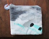 the neutral elements pouch #3 ... one of a kind, hand painted, zip top pouch