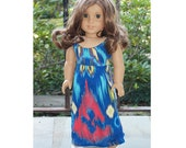 18 inch Doll Clothes - Girl Doll Cloths -   Maxi Dress -  Maxi Sundress - Sandy Lane