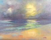Peace, 8x10 Oil on Canvas Panel, Seascape Sunrise