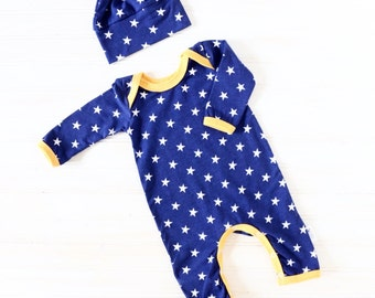 Baby Boy Romper - Baby Going Home Outfit - Baby Romper - Newborn Romper - Layette - Newborn READY TO SHIP
