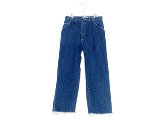 WTF HALF OFF adorable wide leg mom jeans / high waisted jeans ripped jeans distressed jeans straight leg wrangler jeans carpenter jeans