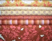 YARD Bundle - 5% OFF! Bungalow, Joel Dewberry, Designer Cotton Quilt Fabric, Floral Fabric, Gold & Orange Quilting Fabric