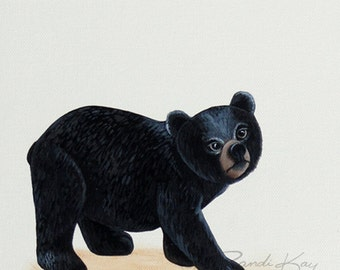 Black Bear Decor - Bear Art print- Baby art prints - Nursery wall art - Bear Nursery Prints - Woodland nursery - Woodland Animals -kids art