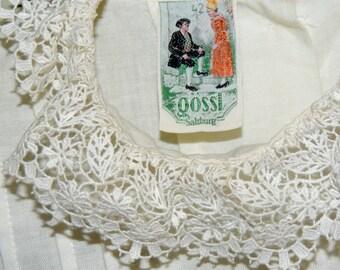 Gossl SALZBURG Lace Blouse tag size 42