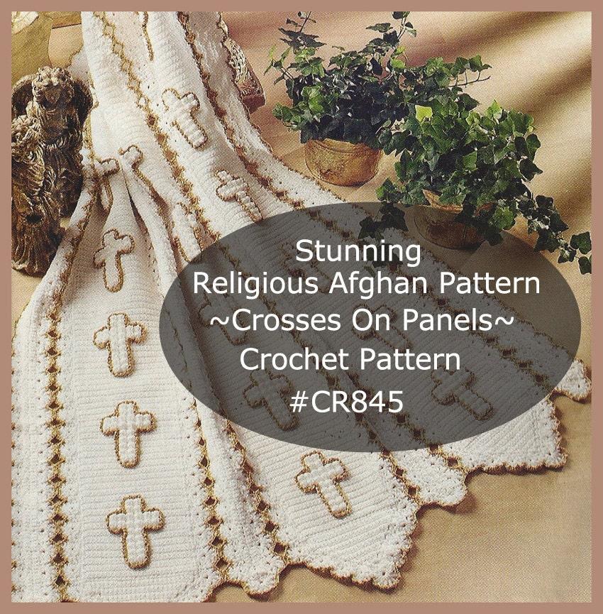 Religious: Prayer Religious Afghan Crosses Heirloom Prayer Crosses