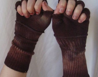 Made to Order One of a Kind Grungy and Green (Red,Brown,Yellow,Blue) Dirty and Distressed Wasteland Gloves