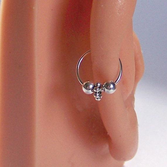 Items similar to SET of TWO - Seamless Hoop Earrings ...