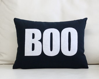 "NEW! Throw Pillow, Decorative Pillow, ""Boo"" 10X14 inch throw pillow"