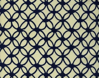 ON SALE - Rashida Coleman - Cotton & Steel - Macrame - Knotty Navy - Half Yard Cotton Fabric