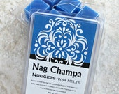 Nag Champa Scented Wax Melts, Strong Paraffin wax tarts, floral scented paraffin wax, classic incense fragrance