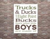 Little Boys Are Made Of, Boys Hunting Decor, Boys Room Decor, INSTANT DOWNLOAD,Hunting Decor, Boy Baby Shower, Baby boy gift, Boy Nursery