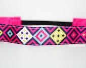Pink Aztec No Slip Headband