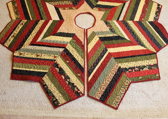 Large christmas tree skirt quilt inch diameter scrappy