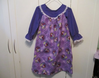 Girls Flannel Frozen Nightie