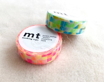 mt Washi Masking Tape - mt deco 2015 Autumn - Circles Triangles Squares - Pink / Blue