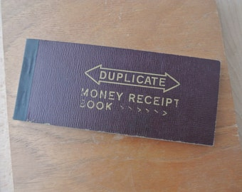 Vintage 1940's Duplicate Money Receipt Book Mostly Unused 60+ Pages