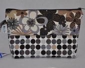 Interchangeable Needle Bag Floral and Dots