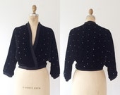 vintage wrap / velvet cardigan / Evening Sky jacket