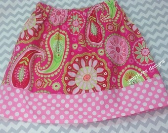 SUMMER CLEARANCE SALE Pink Bandana skirt size 8y Ready to Ship