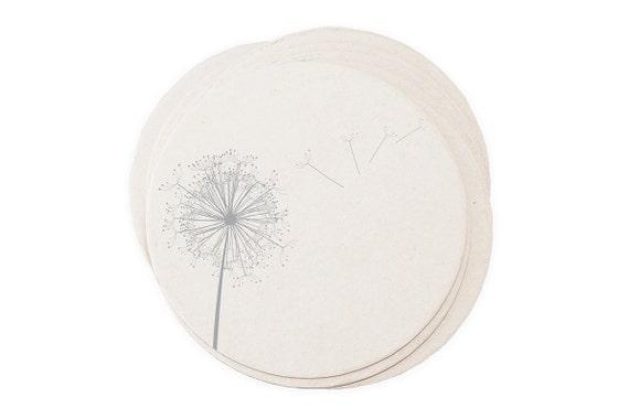 Dandelion Breeze - Letterpressed Paper Coasters