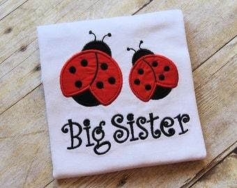 Ladybug Big Sister, Little Sister, Middle Sister shirt or bodysuit.