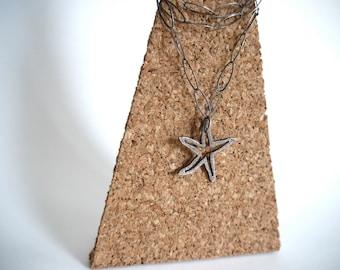 Silver Sea Star Pendant