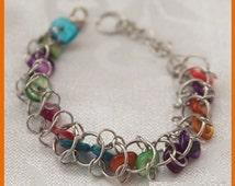 Choo Choo Train Bracelet Chainmaille Jewelry Making Kit T80K