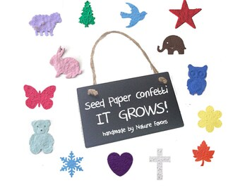 200 Plantable Seed Paper Confetti  - diy wedding favors, place cards, save the date cards, creative invitations