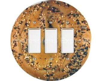 Bagel Triple Decora Rocker Switch Plate Cover