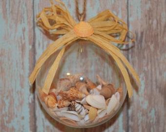Seashell Ornament, Christmas Ornament, Beach Christmas Ornament, Coastal Christmas Ornament, Beach Decor, Christmas Bauble