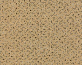 Blue Tan Fabric - Polka Dots and Paisleys-Minick and Simpson-Moda-14804 13