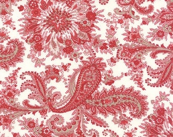Ivory Red Miss Scarlet Fabric - Minick and Simpson - Moda - 14810 12