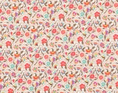 Liberty Fabric Autumn/Winter 2015 Le Temps Viendra A Tana Lawn Fat Quarter Red Pink Turquoise Small Floral