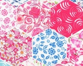 "60 Liberty Fabric Hexagons 1 1/4"" Sides Die Cut Selection 475"