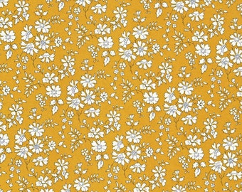 Liberty Fabric Capel G Tana Lawn Mustard Yellow Floral- * PRE-ORDER *