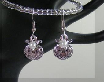 Personalized Owl Earrings-Birthstone Earrings-Choose Silver or Hypoallergenic Ear Wires