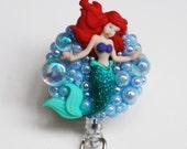 Special Order For Maricela Sweet Little Mermaid ID Badge Reel - Retractable ID Badge Holder -Zipperedheart