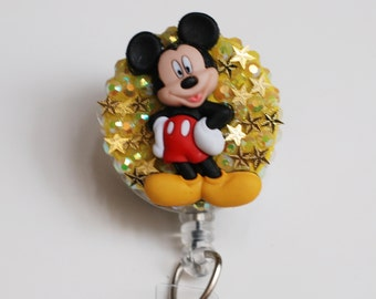 It's All About Mickey Mouse ID Badge Reel - Vintage Zipper ID Badge Holder - Zipperedheart