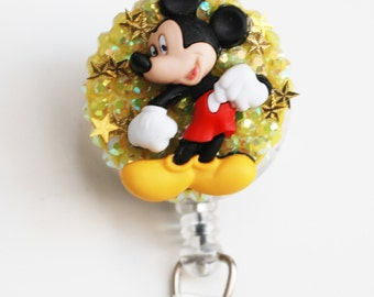 I Am Mickey Mouse ID Badge Reel - Vintage Zipper ID Badge Holder - Zipperedheart